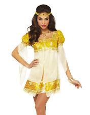Womens Sexy Gold Medievel Renaissance Goddess Princess Halloween Costume
