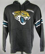 Jacksonville Jaguars Men's Majestic Gray Full-Zip Hooded Sweatshirt NFL M-2XL