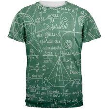 Math Geek Formulas Chalkboard All Over Adult T-Shirt