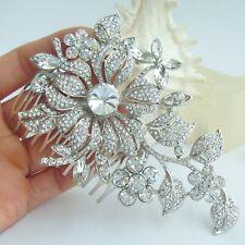 Elegant Orchid Flower Pendant Hair Comb Austrian Crystal HC04712