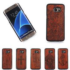 100% Natural grabado madera Funda de teléfono para Samsung S7/S7 EDGE/S8 /