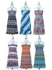 NWT Women O Ring Ruffle Woven Rayon Smocked Self-Tie Straps Dress by Jon & Anna