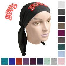 Cute Kids Headscarf w/Red Sparkle Love Applique Children Hair Loss Headcover