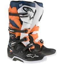Alpinestars 2018 Tech 7 MX Motocross Adult Boots - Black / Orange /White / Blue