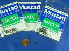 1 busta 25 ami Mustad 286A roach reversed pesca trota, carpa tinca, pellets mais