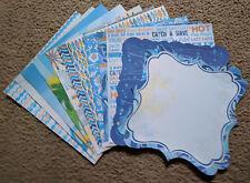 Best Creation 12x12 Glitter Scrapbook Paper Surf's Up Beach Pool Surf Board
