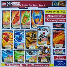 LEGO NINJAGO TRADING CARDS AKTION,- + FAHRZEUGKARTEN SERIE 2 Alle Karten 101-160
