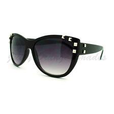 Studded Fashion Sunglasses Womens Round Cateye Frame