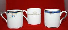 Set of 3 Wedgwood Demitasse cups  Kingsbridge Chartley Metallised Bone China