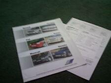 1988 ZENDER Peugeot 205 GTi + Renault  Fiat  Suzuki  Maserati  Porsche BROCHURE