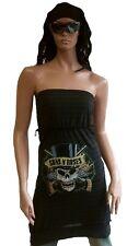 AMPLIFIED GUNS N'ROSES Skull Star Designer Trägerloses Kleid Stretch Top Shirt M