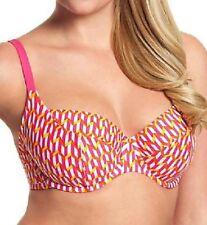 Cleo by Panache Cindy Balcony Bikini Top Pink Orange Multi 0072 V Sizes NEW