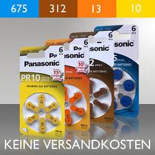 Panasonic Pile per apparecchi acustici PR 10, 13, 312, 675