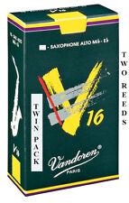 Twin Pack Vandoren V16 Alto Saxophone Reeds Strengths 1.5 2 2.5 3 3.5 Free Del