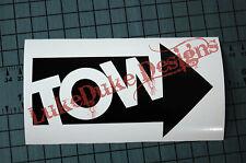 TOW Right Sticker Decal Vinyl JDM Euro Drift Lowered illest Fatlace Vdub