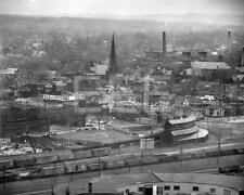 1950s Utica NY Railroad Train Yard Aerial View 8x10 to 16x20 Photo Canvas BG42