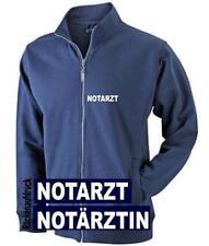 Notarzt / Notärztin Sweat Jacke / Pullover navy mit Brust + Rückenaufdruck*