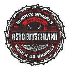 Wetterfester Aufkleber Ostdeutschland 15 oder 40cm osten DDR Heimat Ossi