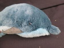 Rare Vintage 1986 Gund Blue Bottle Nosed Dolphin Stuffed Animal Plush Lifelike