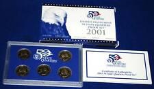 2001  U.S. Mint Made STATE QUARTERS Proof Set in original BLUE box
