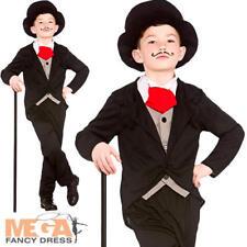Vestido Elegante Victoriano Rico Caballero Chicos Niños Disfraz infantil de clase alta Dickens