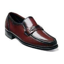 Mens Florsheim Shoes Como Black Cherry Leather Dressy Slip On 17089-18