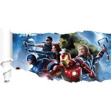Adesivi Avengers carta strappato ref 19526