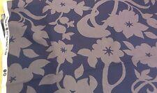 New-100% cotton-blue / Grigio Disegno Floreale fabric-sizes: FQ per iarda