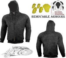 Sudadera con capucha para hombre Polar Velocidad Gris Max Desmontable Armadura Moto/moto chaqueta