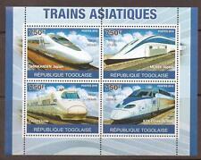 Togo 2010 trenes rápidos S/Hoja estampillada sin montar o nunca montada
