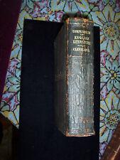 COMPENDIUM OF ENGLISH LITERATURE,1871 CLEVELAND BOOK