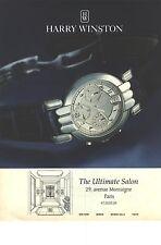 PUBLICITE ADVERTISING 1994   HARRY WINSTON montre chrono