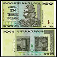 Zimbabwe 10 Trillion Dollars, AA /2008, P-88, UNC, 50 & 100 Trillion Series Best