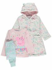Peppa PIG Bebé Niñas Unicornio pijamas y Bata 3 piezas conjunto BNWT