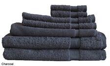 Charcoal Egyptian Cotton Bath Towel Range 7 Pieces Set or Single Pieces Choice