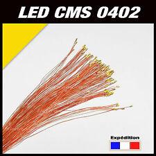 C144J# LED CMS pré-câblé 0402 jaune fil émaillé 5 à 20pcs  - prewired LED yellow