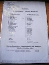 17/07/2007 Go Ahead Eagles v Sheffield Wednesday [Friendly] (Single Sheet, Folde