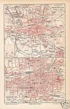 DORTMUND Huckarde Körne Hörde Dorstfeld STADTPLAN von 1905 Barop Rote Erde