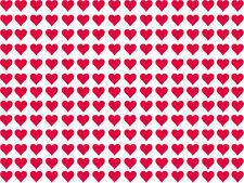 Herz Aufkleber rote Herzchen verschiedene Größen und Stückzahlen aus Autofolie
