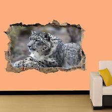 Leopardo sdraiato su roccia Sfondo Adesivo Decorazione Per Soggiorno Decalcomania Murale una classe