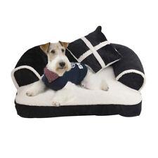 Luxury Pet Dog Sofa Beds With Pillow Detachable Wash Warm Soft Fleece Cat Beds