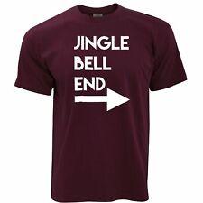 Rude Christmas T Shirt Jingle Bell End & Arrow Joke Adult Funny Xmas