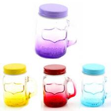 JAM JAR MASON SHOT GLASSES DRINKING WITH HANDLE JUICE DRINK GLASS SET BAR NEW