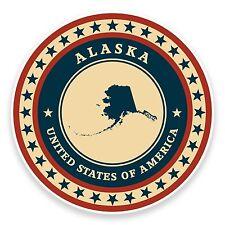 2 x 10cm Alaska USA Vinyl Sticker iPad Laptop Car Travel Luggage Tag Decal #9345