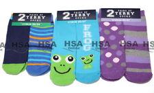 NEW 2 Pairs Kids Winter Slipper Socks, Lounge / Bed Gripper Socks,Birthday Gift