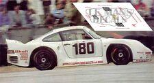 Calcas Porsche 961 Le Mans 1986 180 1:32 1:43 1:24 1:18 decals