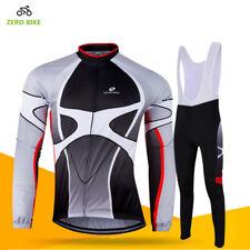 Men's Cycling Outfits Jersey Bib Pants Kits Bicycle Shirt Brace Pants Knicks Set