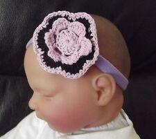 Bébé fille / enfant 2 pouces fait main crochet fleur bandeau plusieurs couleurs