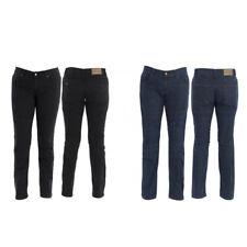 Rayven Ladies Slim Reinforced Venom Denim Motorbike Motorcycle Jeans Short Leg