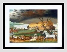 PAINTING ALLEGORY HICKS NOAH'S ARK BLACK FRAME FRAMED ART PRINT PICTURE B12X3644